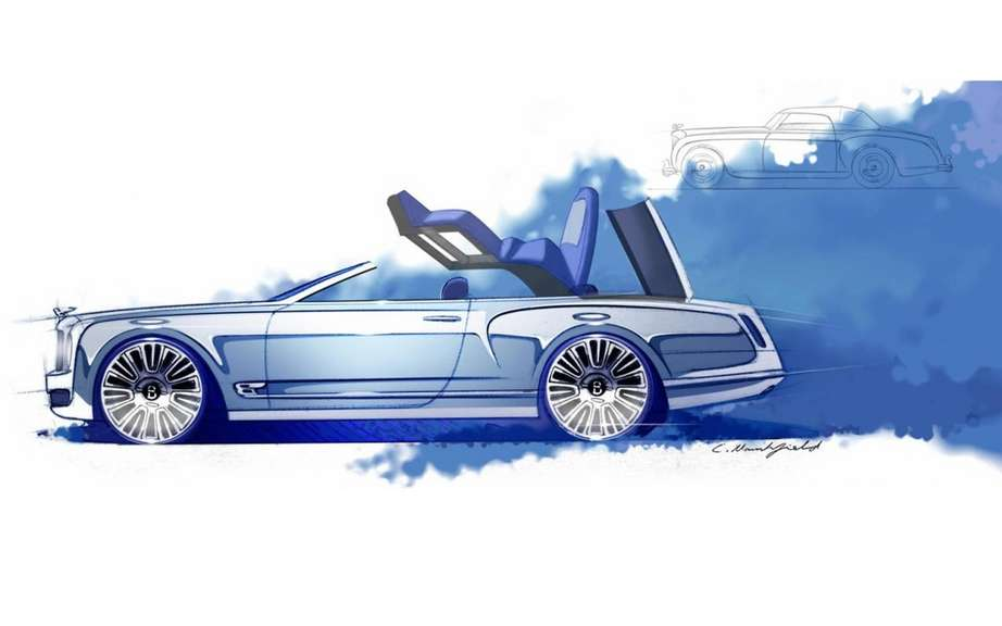 Bentley Mulsanne Convertible Concept: sketches reveal picture #2