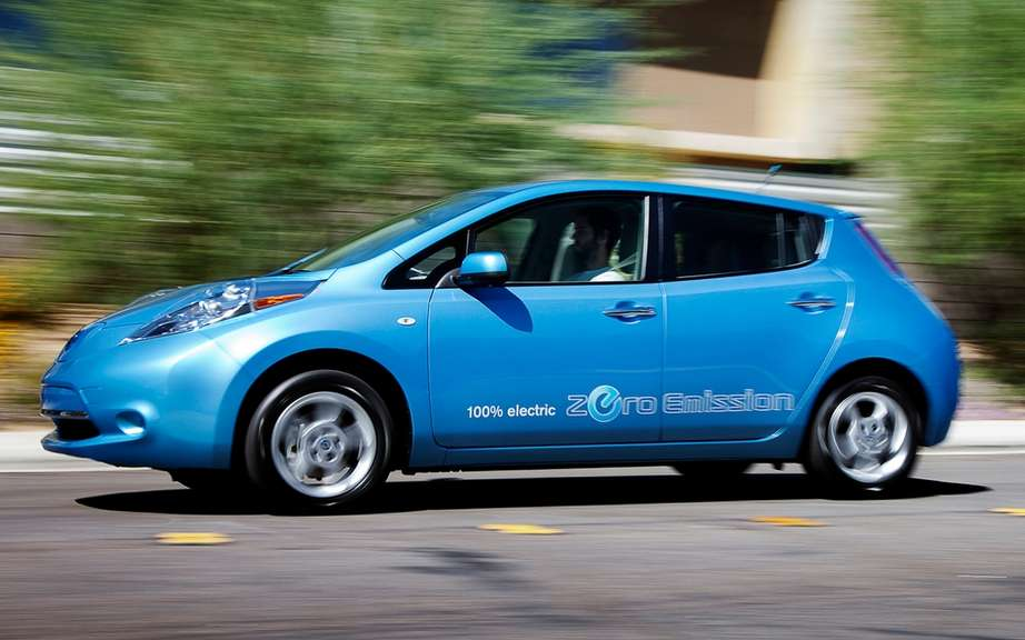 The fully electric Nissan Leaf offered as grand prize