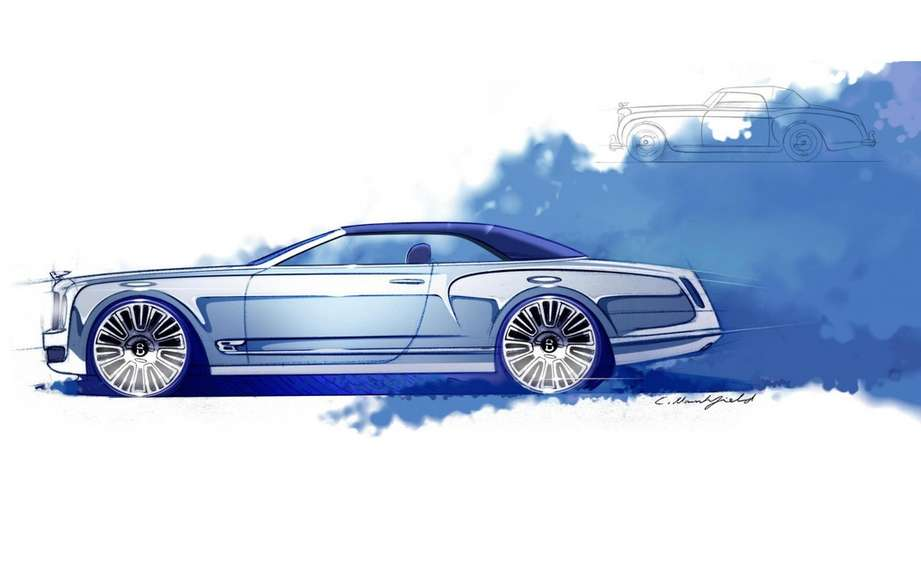 Bentley Mulsanne Convertible Concept: sketches reveal picture #3