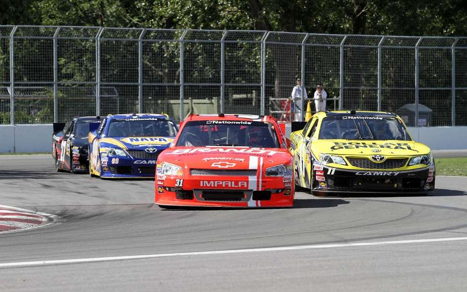 Justin Allgaier advantage of the misfortunes of Quebecois and won the NASCAR Montreal