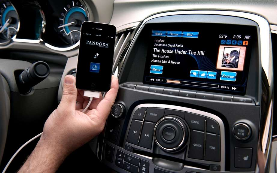 Buick integrated the connective intellilink on all models 2013