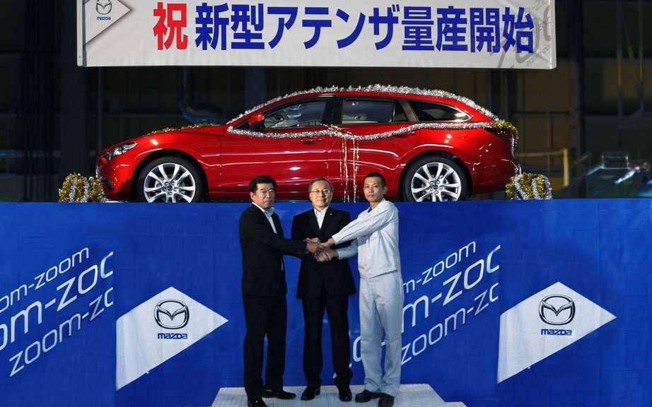 Mazda6 2014, the start of production is commemorated
