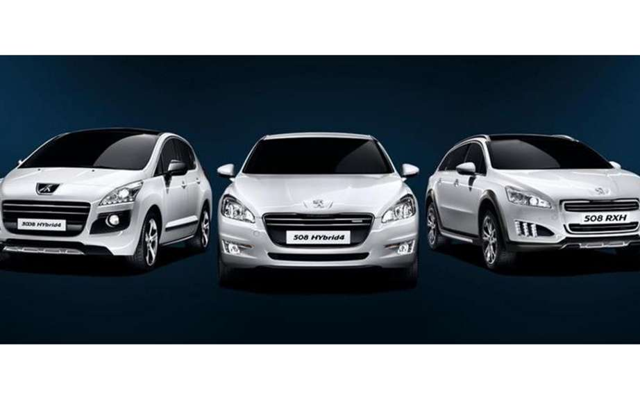 Peugeot focuses on three models HYbrid4