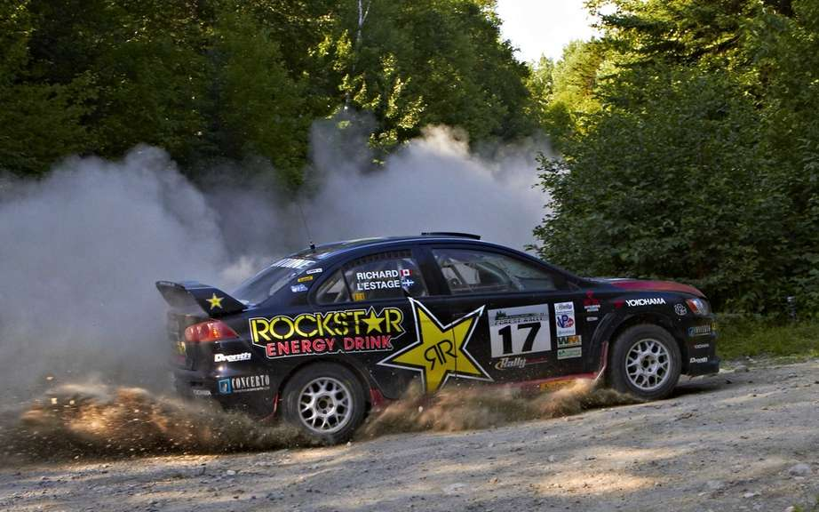 The Quebecois Antoine L'Estage dominates the North American Rally Cup