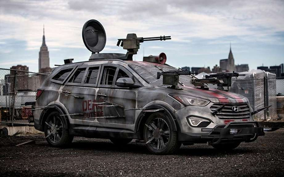 Hyundai unveiled its Elantra model Zombie Survival Machine Cup picture #2