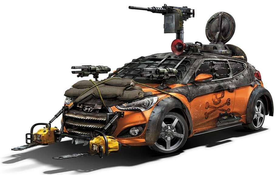 Hyundai unveiled its Elantra model Zombie Survival Machine Cup picture #3