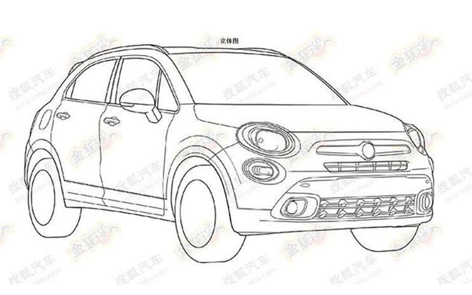 Fiat 500X: high release on his feet
