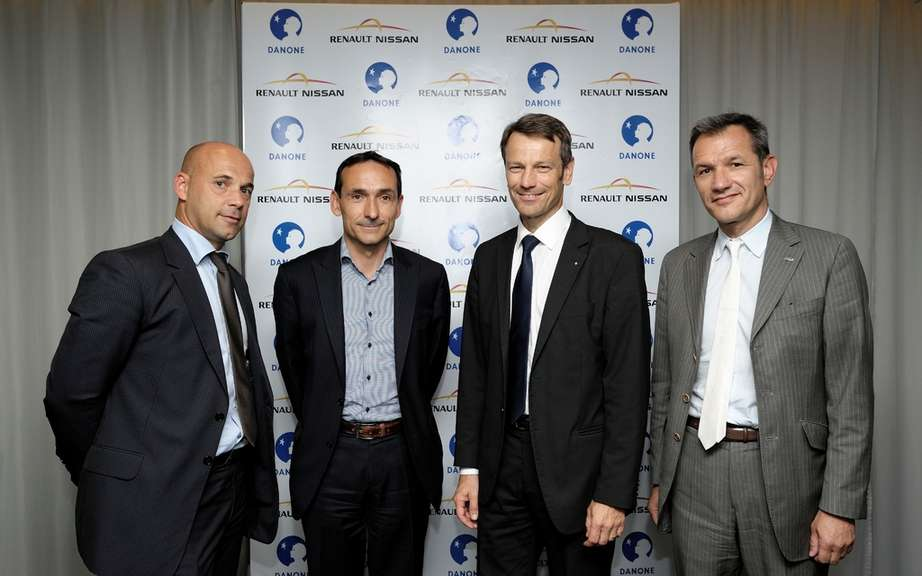 Renault-Nissan sign an international exclusivity of 15,000 vehicles contract with Danone