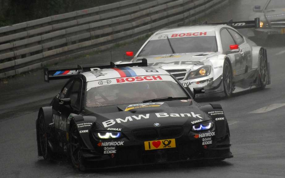 Bruno Spengler on the podium of the DTM race in Nuremberg