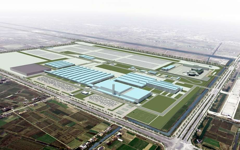 Kia began building a third factory in China
