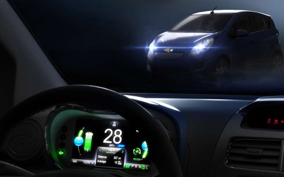Chevrolet Spark EV: testee in the desert