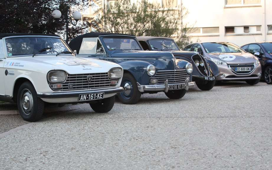 Peugeot Rallye des Princesses and a meeting of auto passionate collector