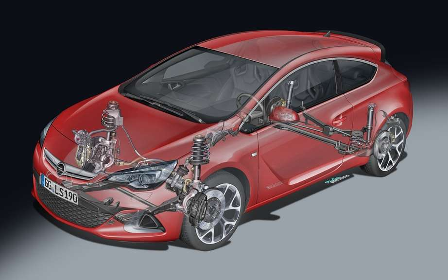 Opel has developed a proprietary high-performance frame for maximum adherence