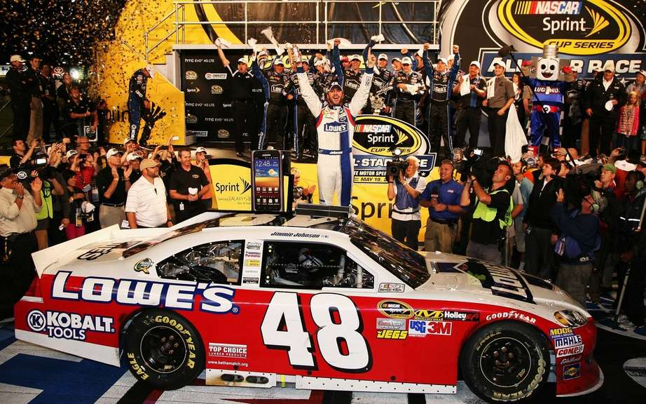 A small race that pays a million has Jimmie Johnson!