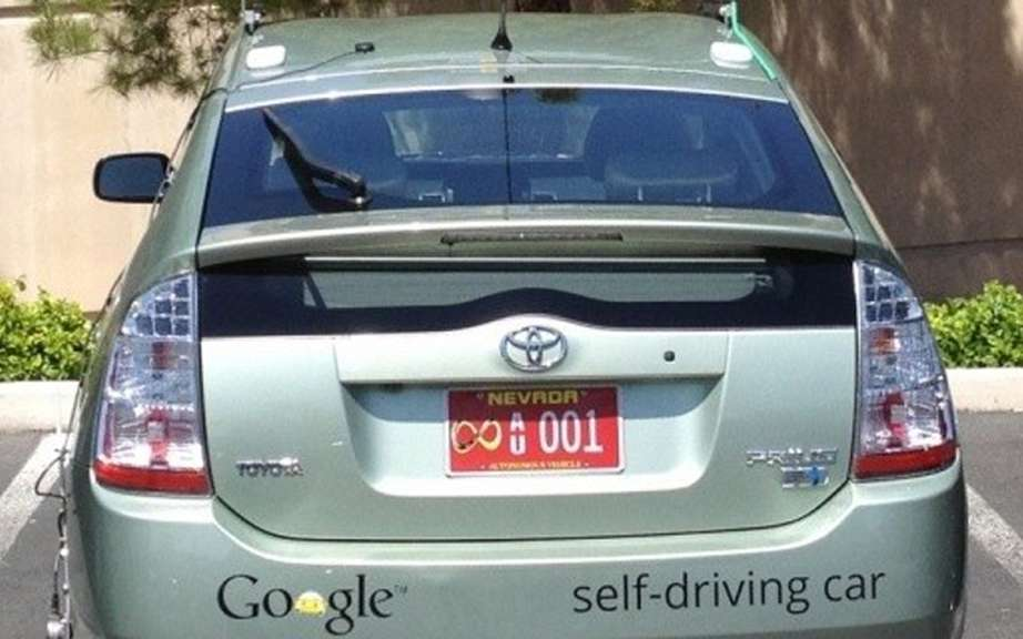 Google registers his car driving autonomous