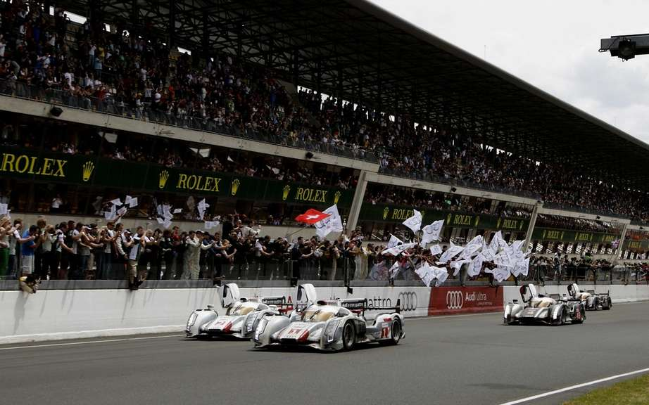 Historical success for Audi in the 24 Hours of Le Mans