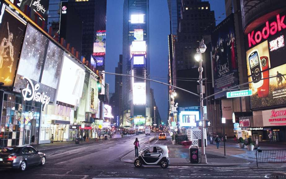 Renault Twizy: she stopped in New York city!