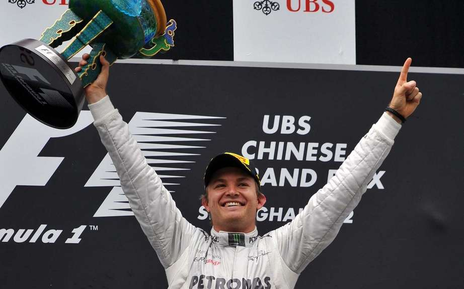 Nico Rosberg clinched his first F1 victory