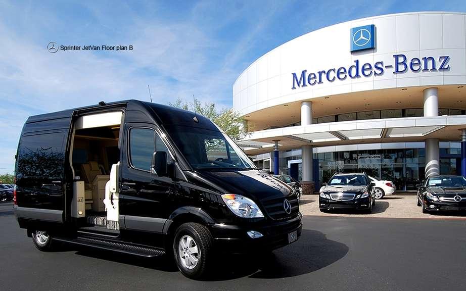 Mercedes benz sprinter jetvan all the private jet on wheels for Mercedes benz sprinter jetvan