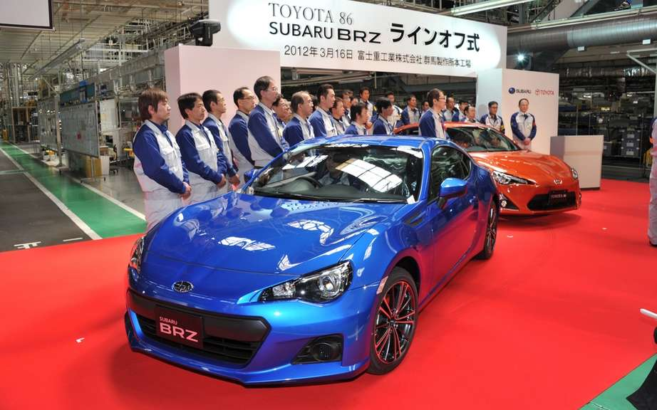 Subaru BRZ, Toyota GT86 and Scion FR-S: Subaru assembled