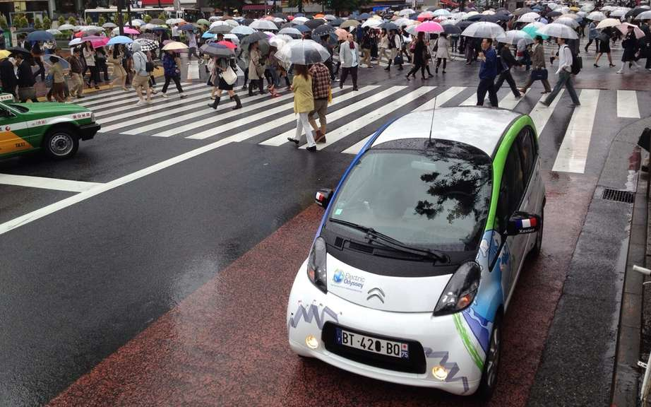 Odyssee Electric: Citroen C-ZERO loop Japanese stage!
