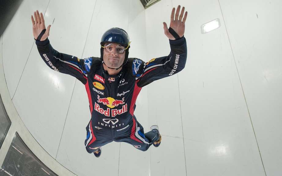 Mark Webber defies gravity as part of an organized race a few days of the Canadian Grand Prix