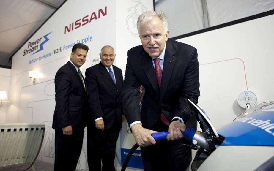 For the first time in Canada, Nissan Canada and PowerStream proceed with the demonstration of the system to recharge the Nissan LEAF based on the exchange of energy between the vehicle and the house