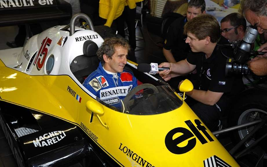 Alain Prost became the new ambassador of the Renault brand