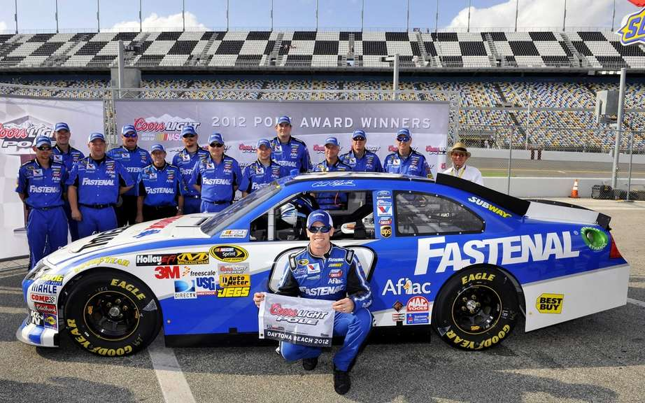 Carl Edwards on pole position for the Daytona 500