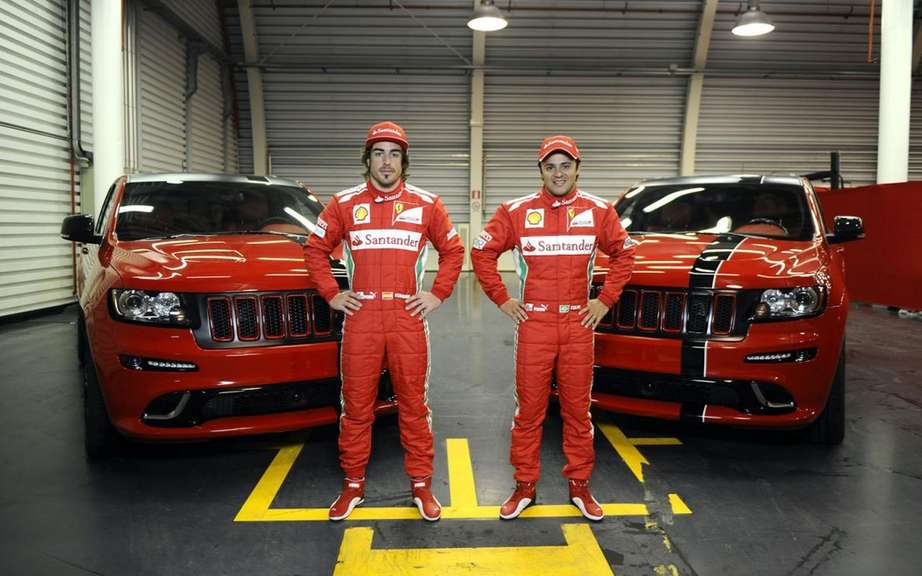 Jeep Grand Cherokee SRT8 delivers two to Ferrari Formula 1 drivers