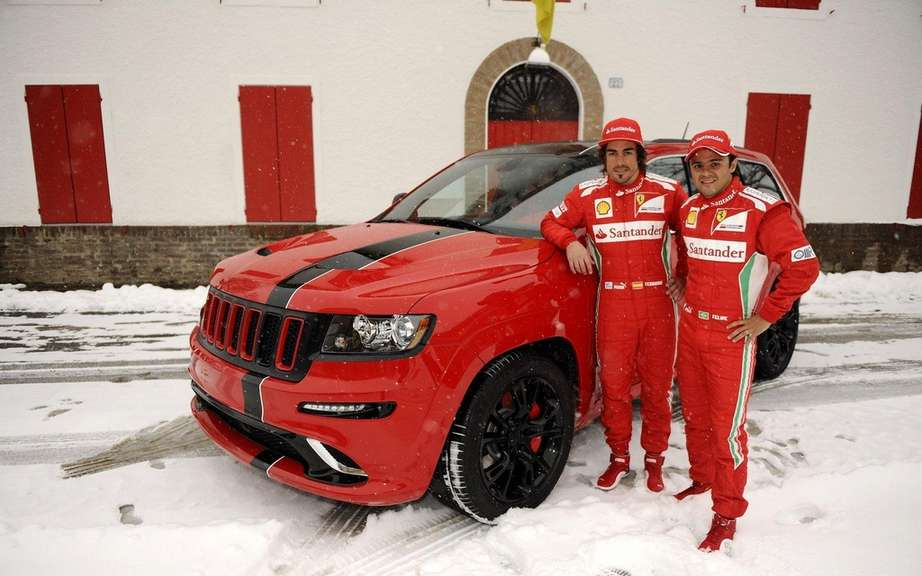 Jeep Grand Cherokee SRT8 delivers two to Ferrari Formula 1 drivers picture #2