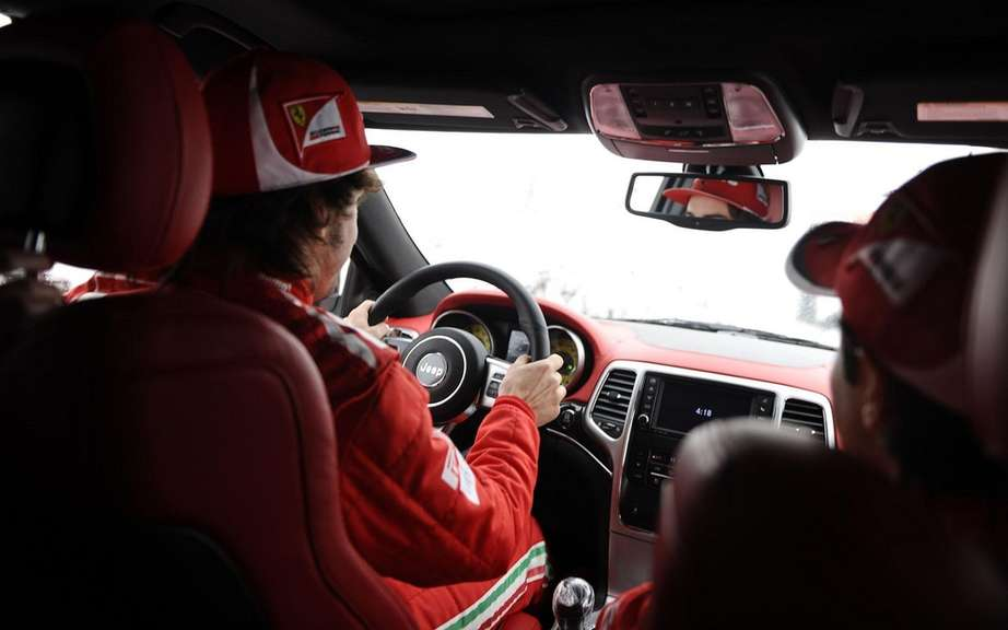 Jeep Grand Cherokee SRT8 delivers two to Ferrari Formula 1 drivers picture #3