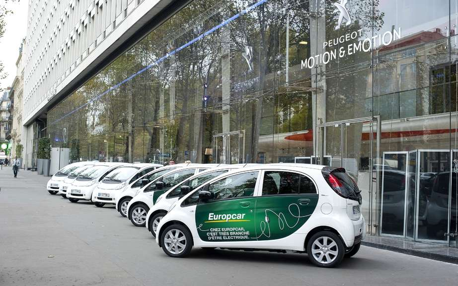 Peugeot delivers its first fleet of electric vehicles of Europcar Tourism