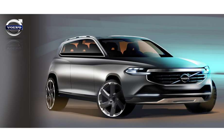 Volvo presents four sketches of the XC90 model coming ...