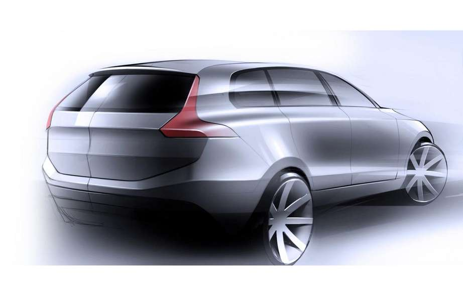 Volvo presents four sketches of the XC90 model coming ... picture #2