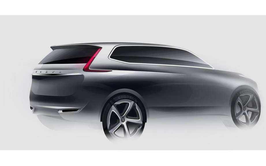 Volvo presents four sketches of the XC90 model coming ... picture #3