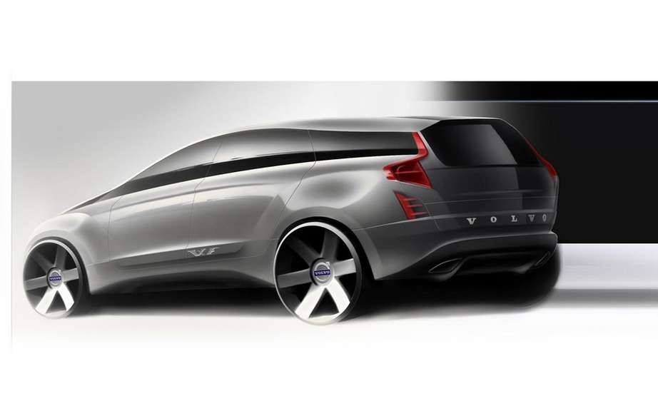 Volvo presents four sketches of the XC90 model coming ... picture #4