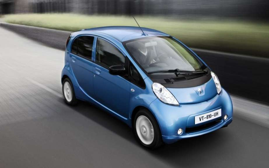 Peugeot iOn: She won a tender for more than 3,000 electric vehicles