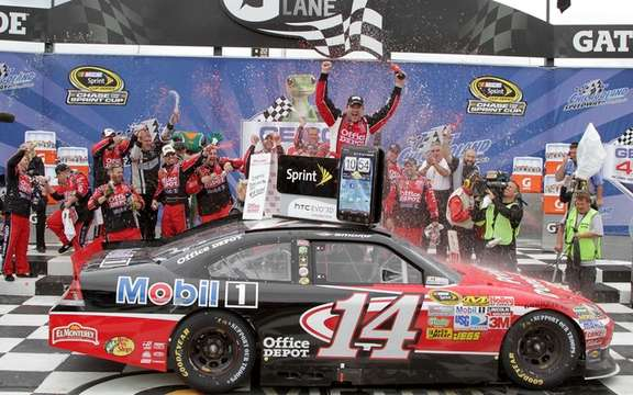 Tony Stewart wins NASCAR race Monday!