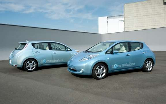 Nissan LEAF certified dealers only seven quebecois