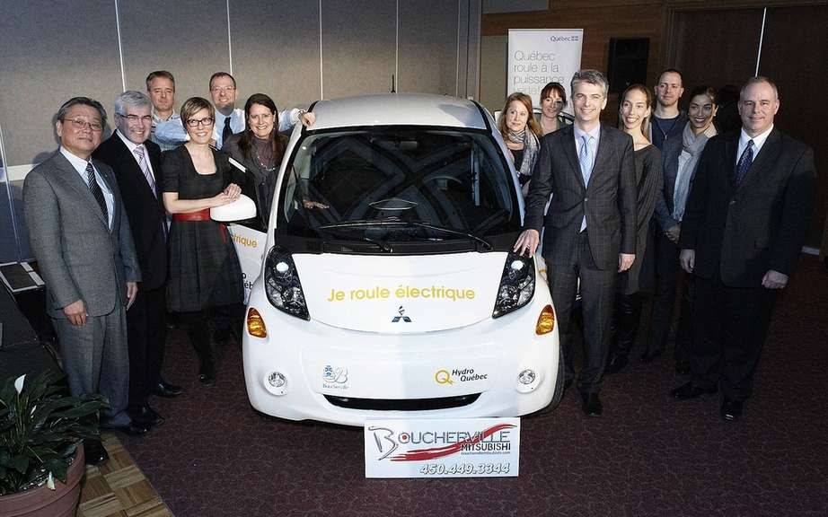 Hydro-Quebec delivers ten cars i-MiEV has Boucherville businesses