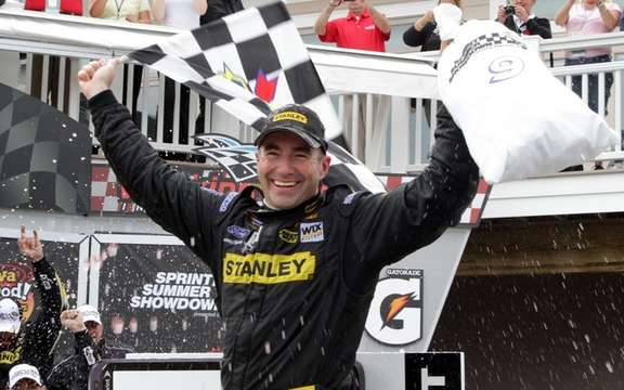Marcos Ambrose clinched first win in Sprint Cup