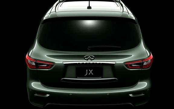 Infiniti JX Concept: The back is we unveiled