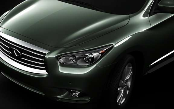 Infiniti JX Concept: The forms take shape