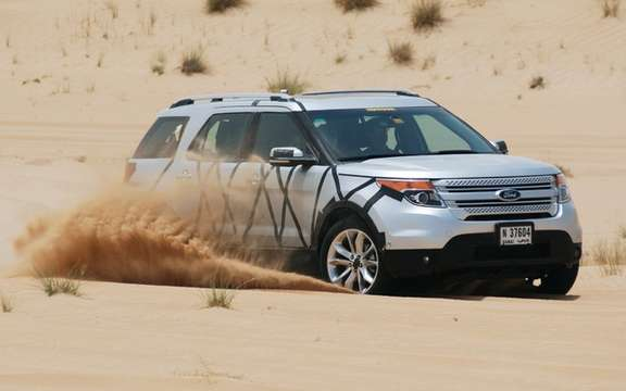 2011 Ford Explorer: It explores the desert of Dubai