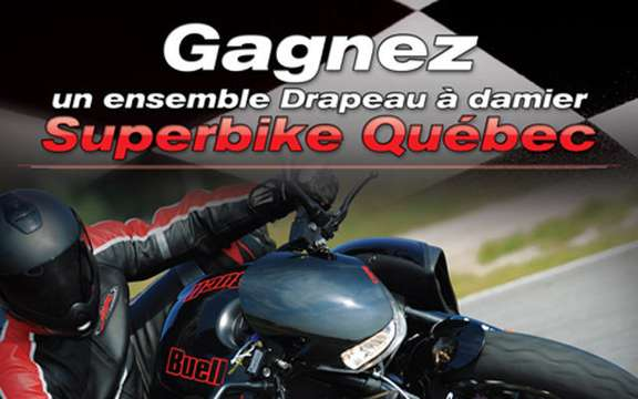 Quebec Superbike competition, hand in Buell and Pirelli