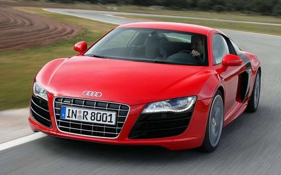 Audi R8 V12 TDI, no question of producing the most beautiful Eco fireball.