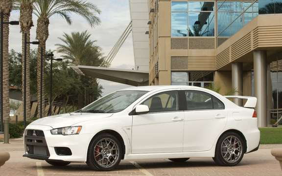 Mitsubishi Evo X, Appointee finalist for World Car of the year the female.