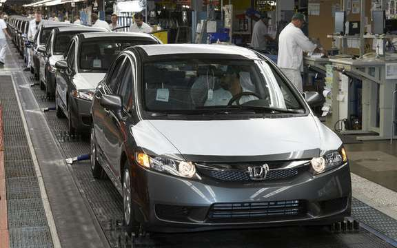 Honda produces its twenty millionth vehicle in North America