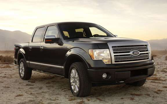 The new Ford F-150 can tow up to 11,300 lbs